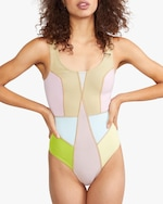 Cynthia Rowley Kalleigh Color-Block One-Piece 4