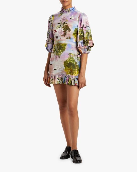 Cynthia Rowley Catalina Ruffle Shift Dress 1