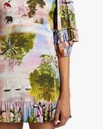 Cynthia Rowley Catalina Ruffle Shift Dress 4