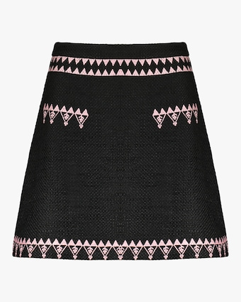 Nicola Embroidered Tweed Skirt