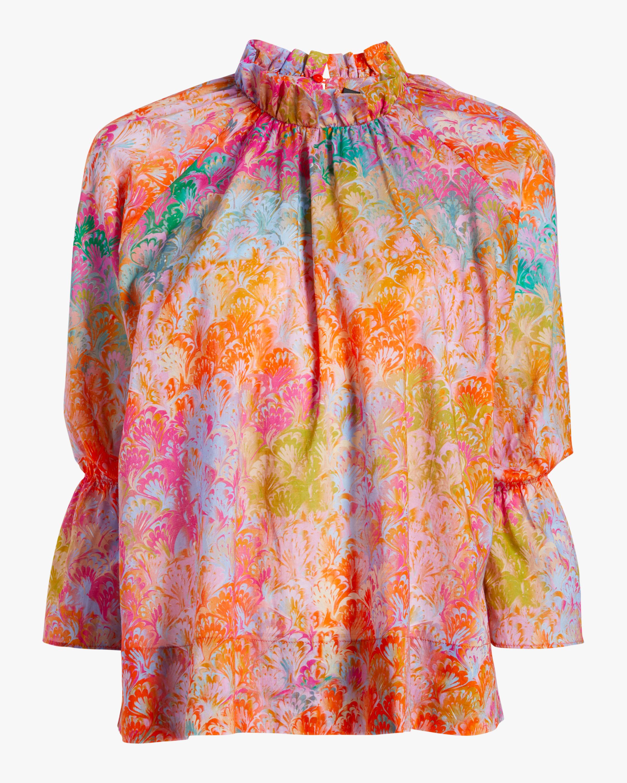 Cynthia Rowley Eden Bell-Sleeve Blouse 1