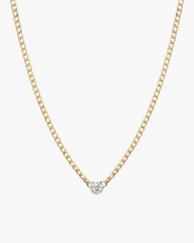 Bezel-Set Diamond Pendant Necklace
