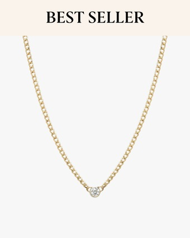 Zoë Chicco Bezel-Set Diamond Pendant Necklace 2