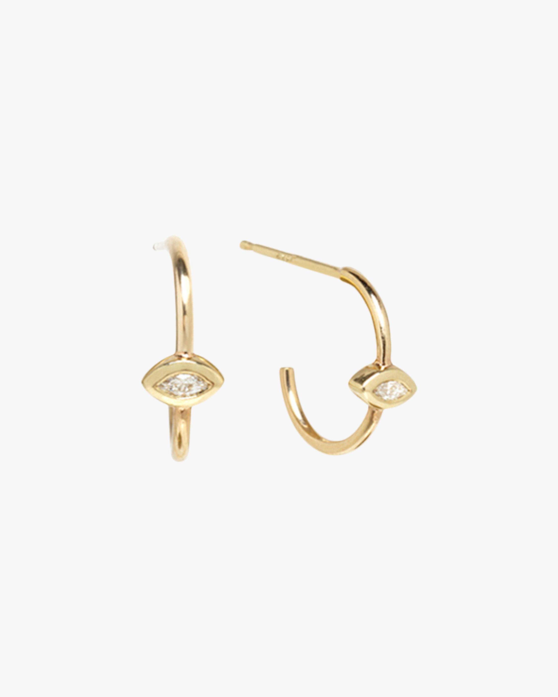 Marquise Huggie Earrings