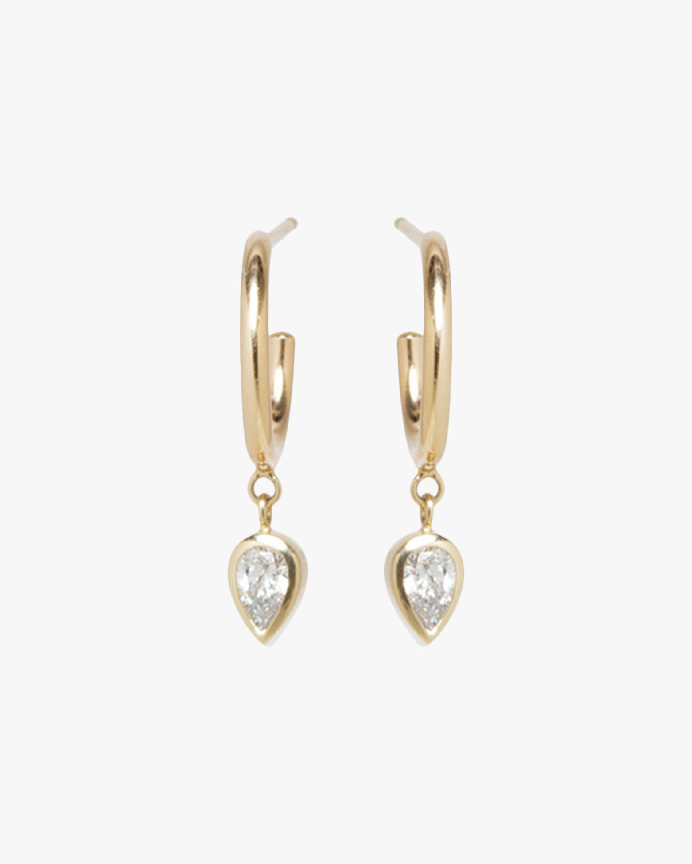 Pear Drop Huggie Earrings
