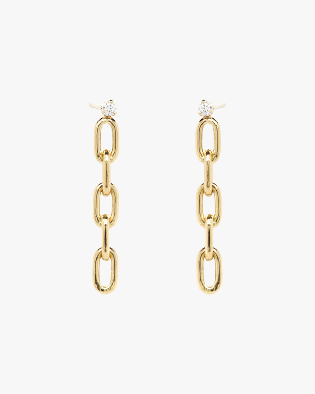 Oval Link Drop Earrings