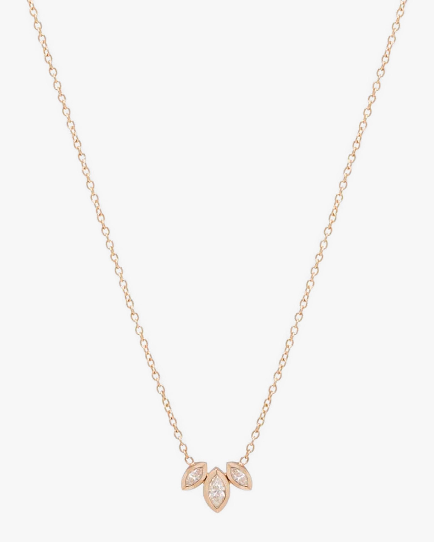 Marquise Fan Pendant Necklace