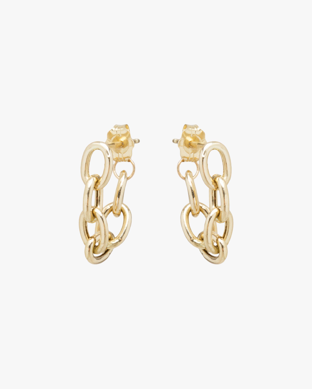 Oval Chain Hoop Earrings