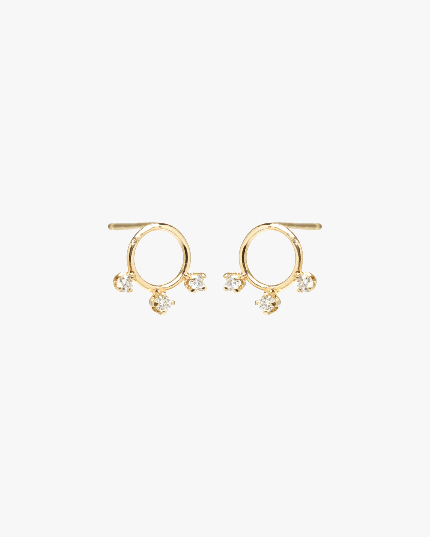 Circle Trio Stud Earrings