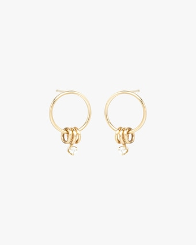 Three-Ring Circle Stud Earrings