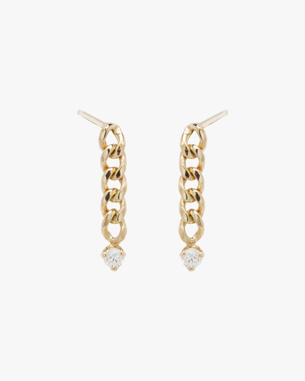 Curb Chain Drop Earrings