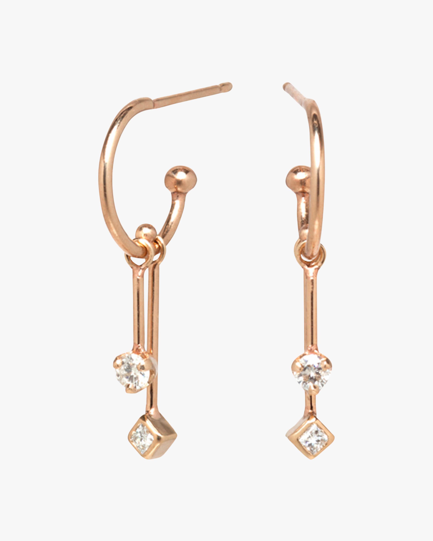 Mobile Bar Huggie Earrings