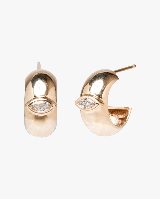 Half-Round Huggie Earrings