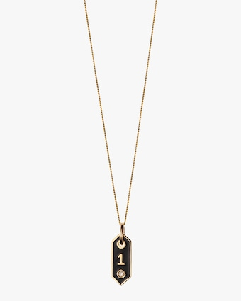 Tiny Signet '1' Pendant Necklace