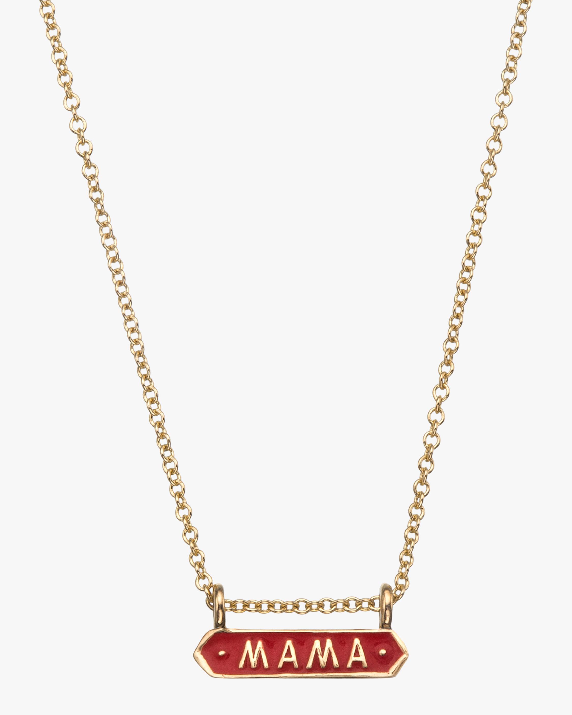 Mama Signet Pendant Necklace