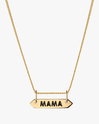 Mama Signet Pendant Necklace