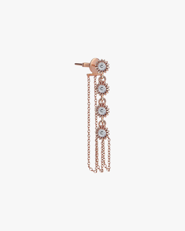 Single Dangling Chain Drop Earring