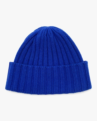 Blue Bell Ribbed Beanie
