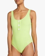 Solid & Striped The Anne-Marie Button One-Piece Swimsuit 1