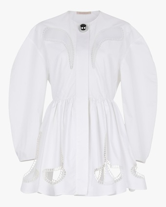 Christopher Kane Petal-Embroidered Gathered Mini Dress 1