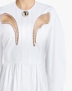 Christopher Kane Petal-Embroidered Gathered Mini Dress 3