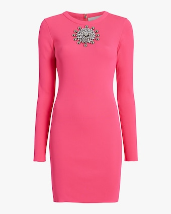 Christopher Kane Crystal-Neck Ribbed Mini Dress 1