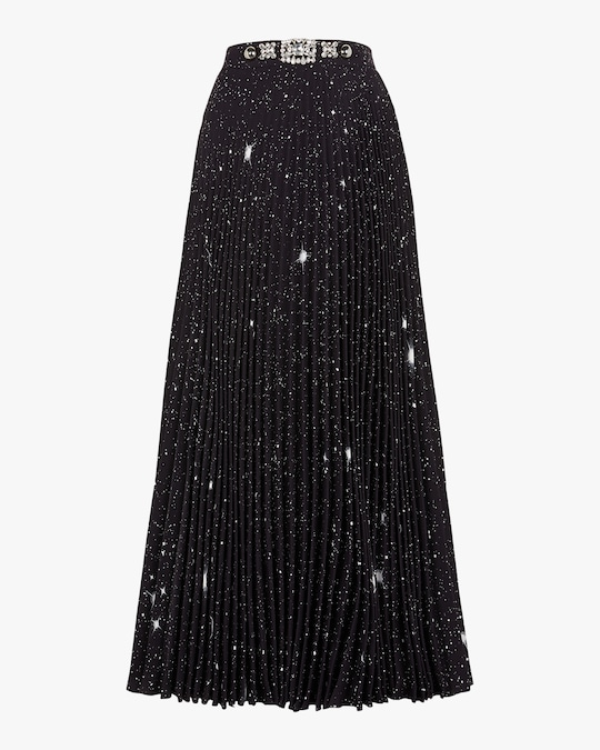 Christopher Kane Star Pleated Skirt 0