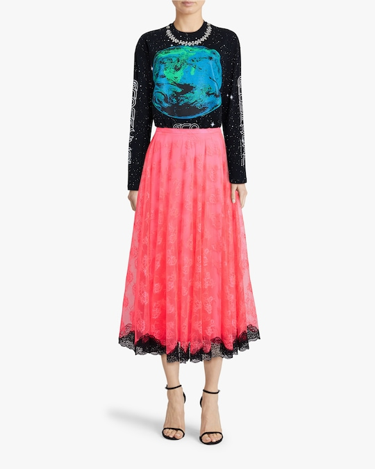 Christopher Kane Neon Lace Skirt 1