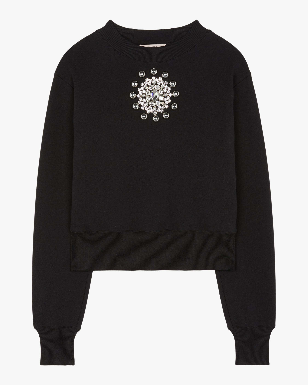 Christopher Kane Crystal-Brooch Sweater 1