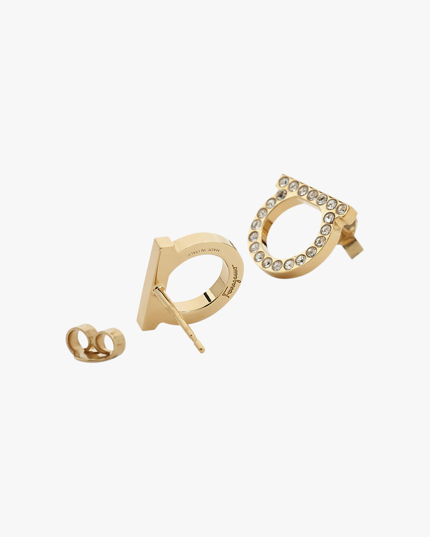 Gancini Crystal Stud Earrings