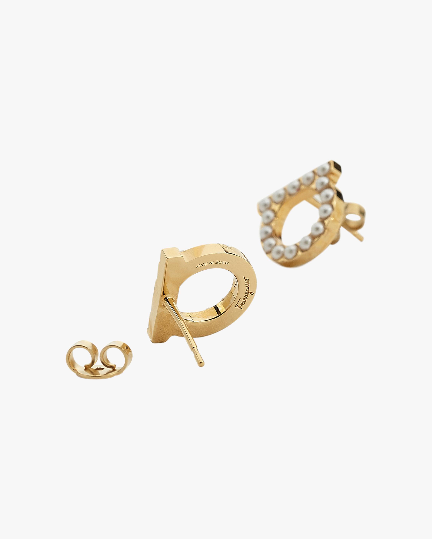 Gancini Sparkle Stud Earrings