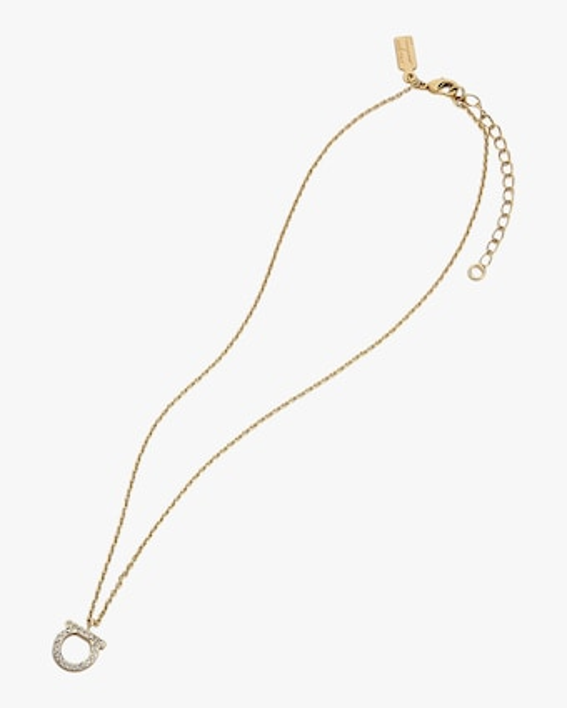 Gancini Crystal Pendant Necklace