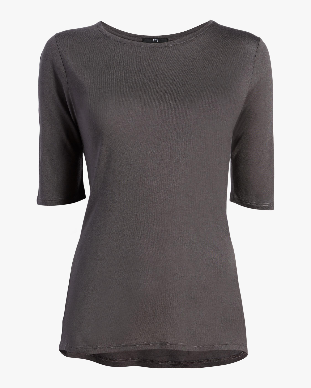 Fite Luxury Tees Cashmere Crewneck Three-Quarter Sleeve Top 0