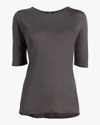 Fite Luxury Tees Cashmere Crewneck Three-Quarter Sleeve Top 1