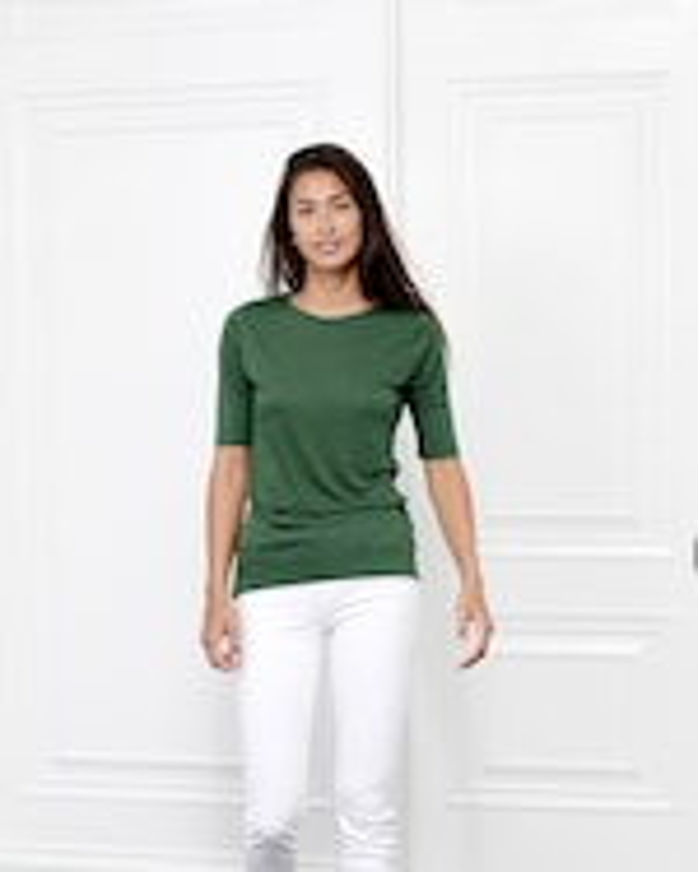 Fite Luxury Tees Cashmere Crewneck Three-Quarter Sleeve Top 1