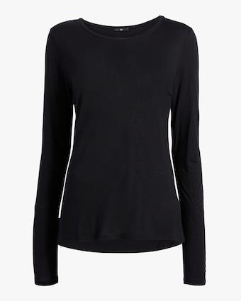 Cashmere Crewneck Long-Sleeve Top