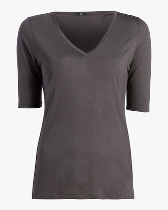 Cashmere V Neck Three-Quarter Sleeve Top