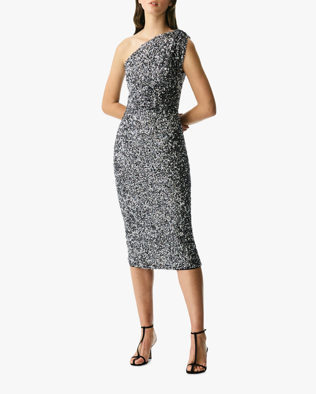Rachel Gilbert REED ONE-SHOULDER DRESS