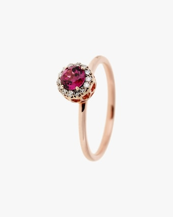 Selim Mouzannar Diamond & Rhodolite Ring 1