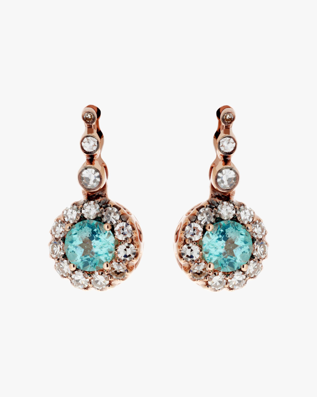 Diamond & Paraiba Drop Earrings
