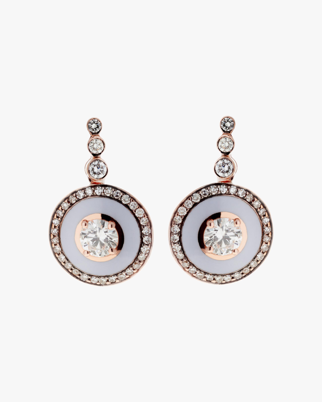 Selim Mouzannar Diamond Round Drop Earrings 0