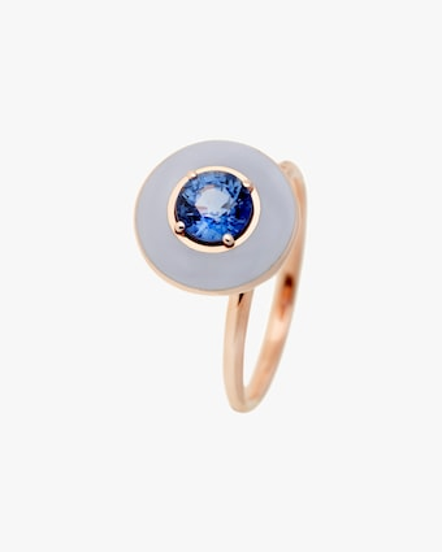 Selim Mouzannar Sapphire & Enamel Ring 2