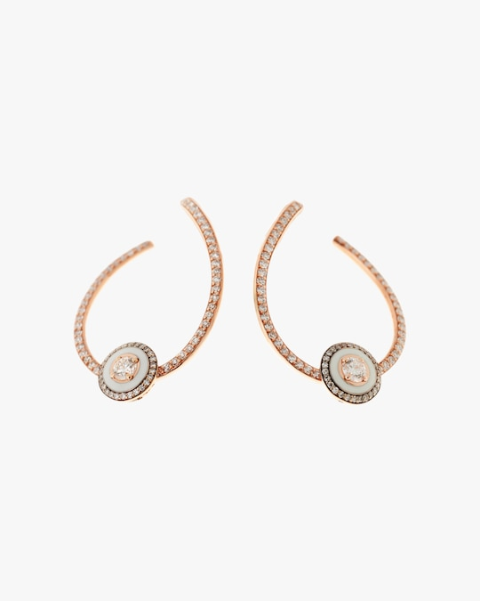 Selim Mouzannar Diamond Hoop Earrings 0