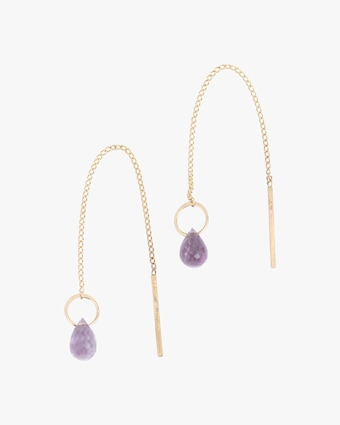 Melissa Joy Manning Amethyst Threader Earrings 2