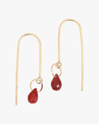 Melissa Joy Manning Ruby Threader Earrings 1