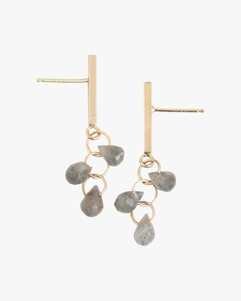 Melissa Joy Manning Bar Trio Drop Earrings 2