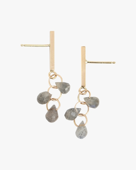 Melissa Joy Manning Bar Trio Drop Earrings 0