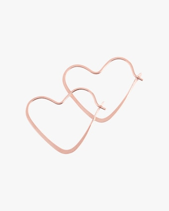 Melissa Joy Manning Heart Hoop Earrings 1