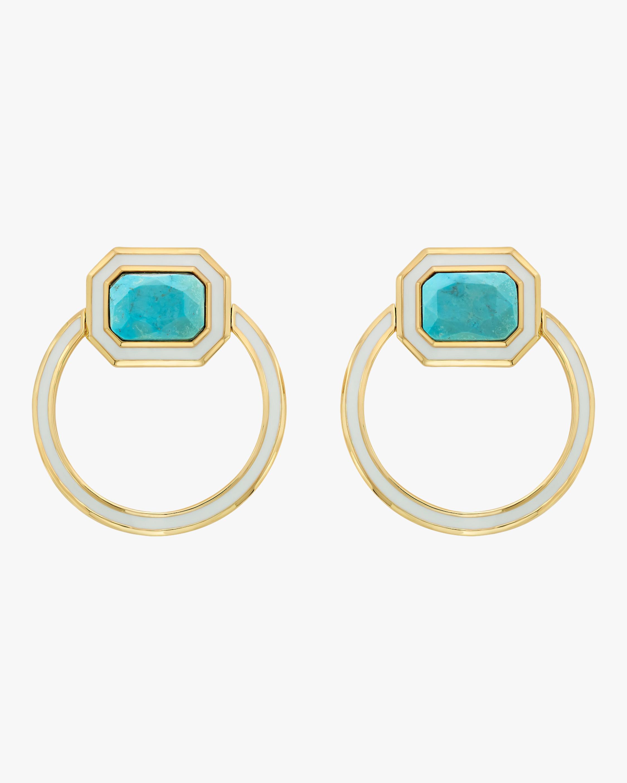 Isharya Chakra Turquoise Shadow Loop Earrings 2