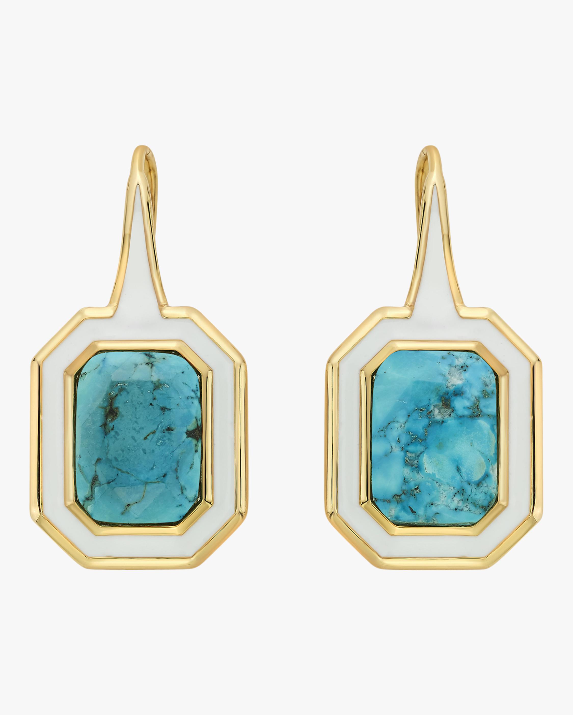Chakra Turquoise Shadow Drop Earrings